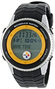 NFL Mens NFL-SW-PIT Schedule Series Pittsburgh Steelers Watch by Game Time