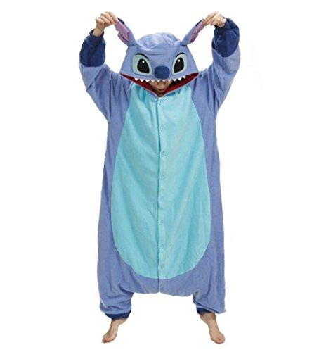 es unico174 blue stitch costume animal onesie kigurumi