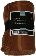 Home Pumpkin Orange Plaid Throw Blanket Soft amp Warm Lightweight Rust
