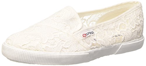 Superga 2210-Macramew, Slip-on, Donna, Bianco (901 White), 37