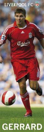 Liverpool- Gerrard Sports Poster Print, 12x36