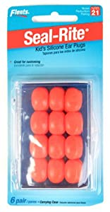 Flents Set of 12 Kids Silicone Ear Plugs, 36-Pack