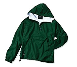 Charles River Apparel Women's Front Pocket Classic Pullover,Medium,Forest