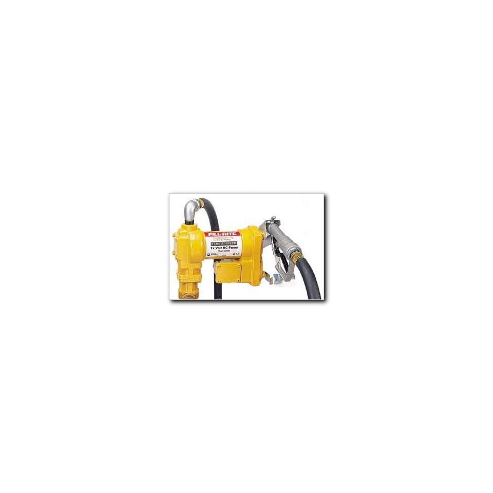 Fill Rite SD1202 Fuel Transfer Pump, Telescoping Suction Pipe, 10 Delivery Hose, Manual Release Nozzle   12 Volt, 13 GPM