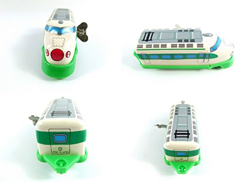 Wind up Green Train Small Tin Toy Train from Japan