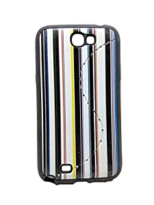 Iway Matte Leather Finish Diamond Soft Back Cover for Samsung Galaxy Note 2 N7100   Black available at Amazon for Rs.99