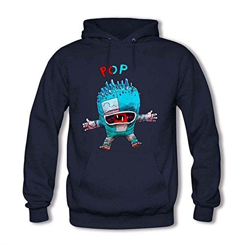 Womens Hoodies Pop Robot Monster Sweatshirts L