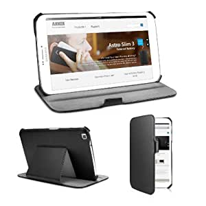 Anker Galaxy Tab 3 8.0 Frameless Synthetic Leather Case for Samsung Galaxy Tab 3 8-inch T3100 T3110 Tablet - Smart Cover with Multi Angle Stand - Lifetime warranty