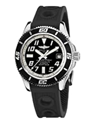 Breitling Men's A1736402/BA29 Superocean Abyss Black and White Dial Watch