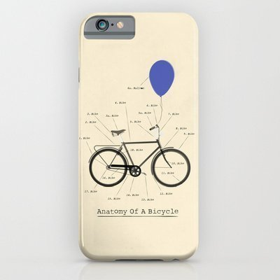 Society6 - Anatomy Of A Bicycle iPhone 6 Case by Wyatt Design by PLIAQRT [並行輸入品]