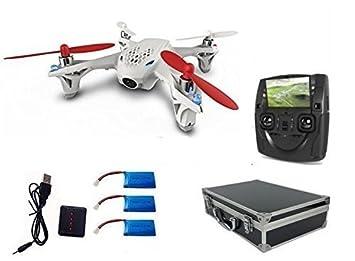 WayIn® Hubsan X4 H107D FPV Caméra Quadcopter avec étui de transport, 3Pcs 500mAh Batteries, 4 en 1 chargeur de batterie