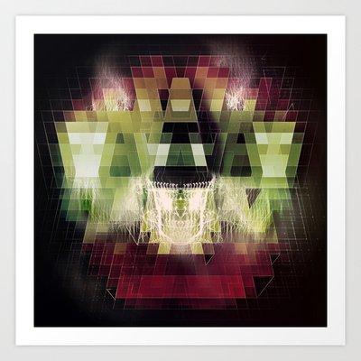 Society6 - Cherub Under The Microscope: 2 Art Print By John Magnet Bell