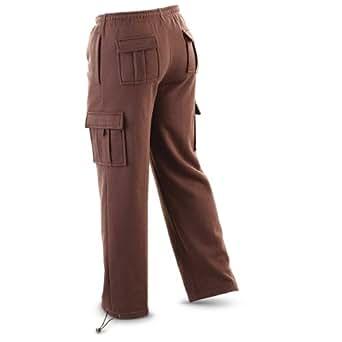 Guide Gear Fleece Cargo Pants, BARK BROWN, M