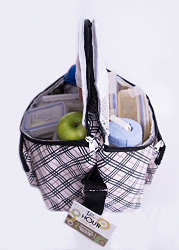 Adult's 12-hour Shift 2-sided Lunch Bag (Plaid)