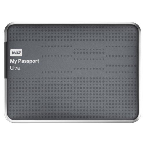 Wd My Passport Ultra 1Tb Portable External Usb 3.0 Hard Drive With Auto Backup - Titanium