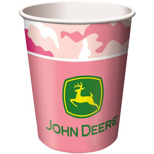 John Deere Pink 9oz Cups (8ct)