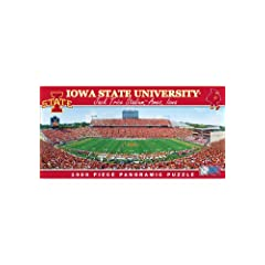 Buy MasterPieces Puzzle Company NCAA Iowa State Cyclones Stadium Panoramic Jigsaw Puzzle (1000-Piece) by MasterPieces Puzzle Company
