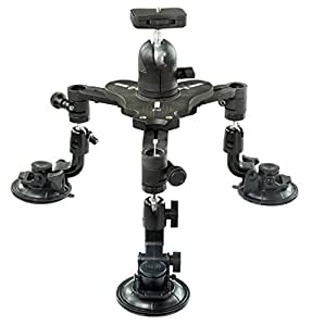 Flyfilms Rollercam Suction Mount with Ball tilt Head for DSLR Canon Sony Nikon Video Film Camera