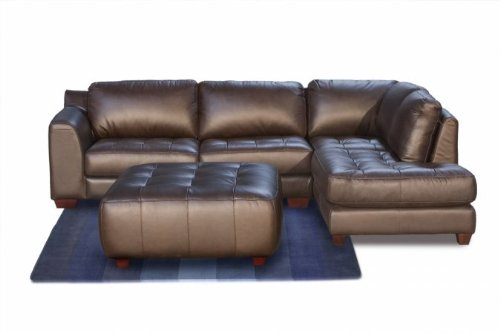 Diamond Sofa Zen Collection Right Facing Chaise 2-Piece Sectional with Square Cocktail Ottoman