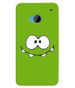 TOUCHNER (TN) Green Smile Back Case Cover for HTC One M7::HTC M7