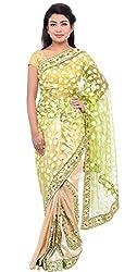 Monash Creations Brasso Tussar Chanderi Saree For Women