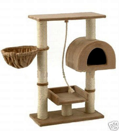Go Pet Club Small Cat Tree Furniture Beige Go Pet Club B0014LYGUO