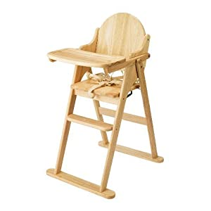 Wooden Folding Highchair by East Coast By Home Discount
