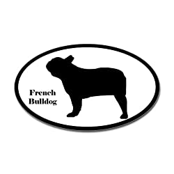 French Bulldog Silhouette Sticker Sticker Oval by CafePress - White