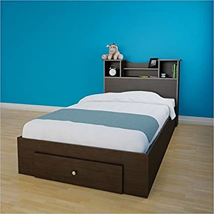 Nexera Pocono 2 Piece Twin Bedroom Set in Espresso with 1 Drawer
