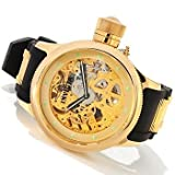 Invicta Russian Diver Skeletonized Mechanical Gold-tone Mens Watch 1243