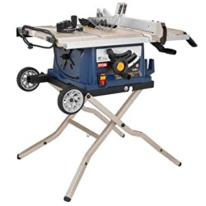 Factory-Reconditioned Ryobi ZRRTS30 10-in Table Saw with Wheeled Stand