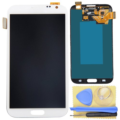 White Lcd Touch Digitizer Full Assembly For Samsung Galaxy Note 2 N7100