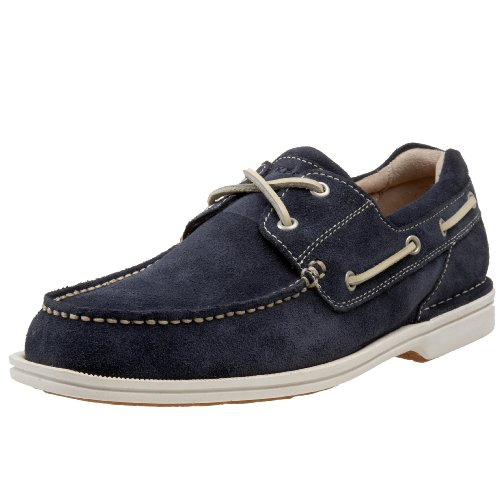 Rockport Men's Ocean Grove Boat Shoe Leather Suede Navy Suede K52323 15.5 UK