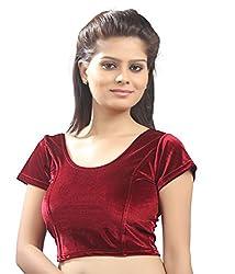 Khodiyar Creation Women's Red Velvet Blouse