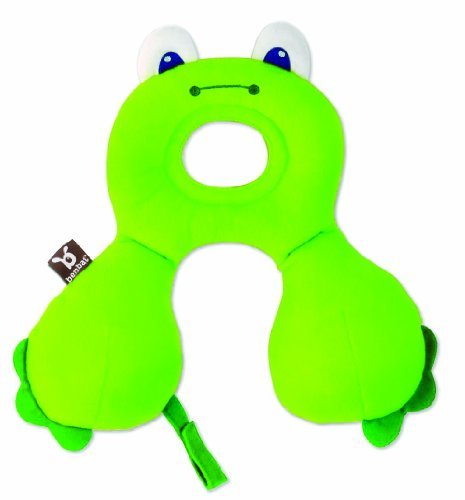 Benbat Travel Friends On The Go Head And Neck Support, Frog, 0-12 Months