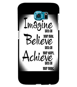 ColourCraft Quote Design Back Case Cover for SAMSUNG GALAXY S6 EDGE G925