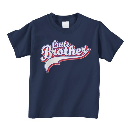 Threadrock Baby Boys' Little Brother Toddler T-Shirt 2T Navy front-220025
