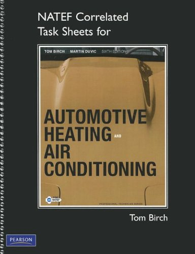 NATEF Correlated Task Sheets for Automotive Heating and...