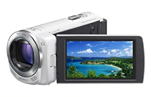 Sony HDR-CX260V High Definition Handycam 8.9 MP Camcorder with 30x Optical Zoom and 16 GB Embedded Memory (White) (2012 Model)
