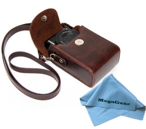 "Megagear ""Vertical"" Protective Dark Brown Leather Camera Case , Bag For Sony Dsc-Rx100M Ii Cyber-Shot Digital Still, Sony Cyber-Shot Dsc-Rx100 Iii, Camera Rx100 Ii, Canon Powershot S120, Panasonic Lumix Dmc-Lf1"