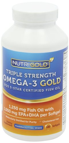 Nutrigold triple strength omega 3 gold 1 060 mg omega 3s for Ifos fish oil