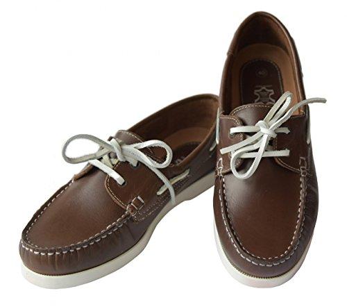 Beverly Originals Scarpe da barca da uomo Men's Casual Sailor, Farbe:braun;Taille:40