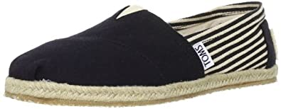 TOMS Women's Classic Rope Slip-On,University Black,5 M US