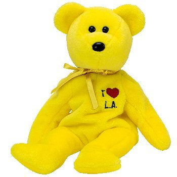 Ty Beanie Babies: L.A. (Los Angeles) Bear - 1
