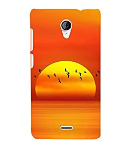 SERIES OF FLYING BIRDS AT SUNSET DEPICTING BEAUTY OF NATURE 3D Hard Polycarbonate Designer Back Case Cover for Micromax Canvas Unite 2 A106