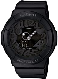 Casio Women's BGA131-1B Baby-G Ultra-Violet LED Black Watch