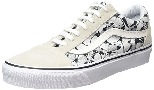 Vans Old Skool, Scarpe da Ginnastica Basse Unisex - Adulto, Bianco (Butterfly True White/Black), 38.5 EU