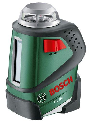 Bosch-DIY-360-Linienlaser-PLL-360-4x-Batterien-AA-Universalhalterung-Tasche-Arbeitsbereich-20-m-04-mmm-Messgenauigkeit