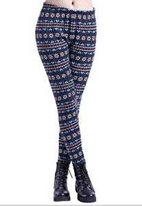 Ninimour- Women's Pattern Print Leggings Tights Pants