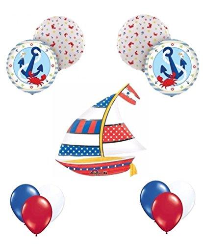 Nautical anchor balloon decoration kit arts entertainment for Anchor balloon decoration